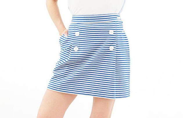 1.【マウロアゴルフ】マリンボーダースカート