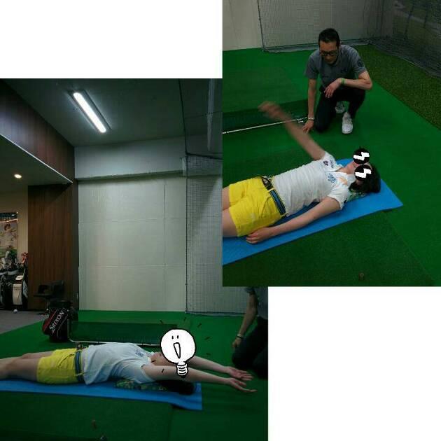 ストレッチパットを使った体幹、肩のストレッチ