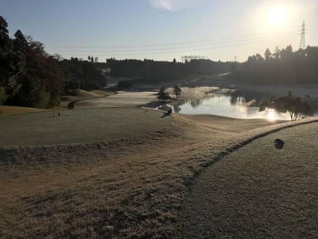 要注意! 冬ゴルフ