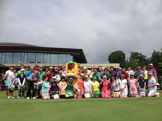 ゆるキャラをゴルフコンペに招待する。