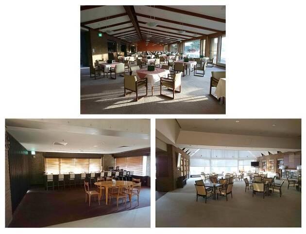 レストランと談話室は、メンバーの憩いの場!