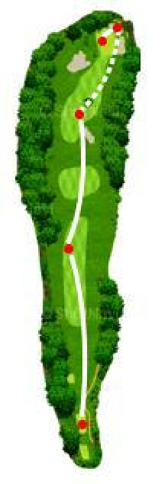 目の前の大木でグリーンを狙えない!、木の下からUTで転がしてグリーンを狙うと?
