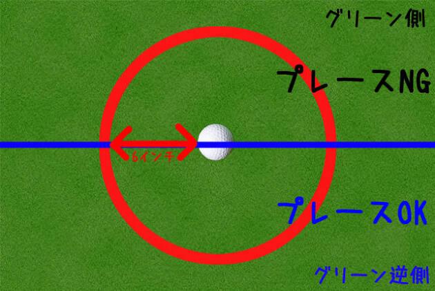 6インチプレースでボールを置き直すときの注意点