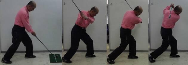 左足の軸と壁を実感するための練習