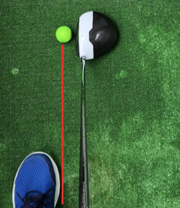 一般的なボールのセッティング位置について