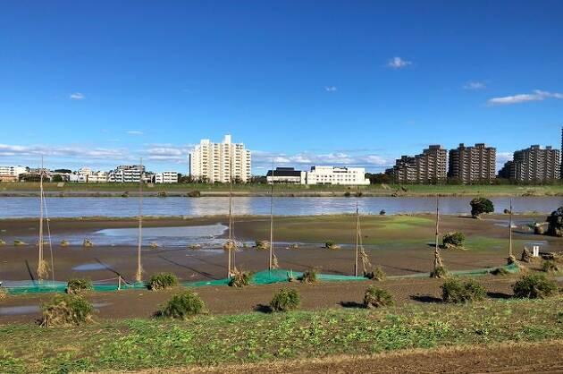 台風で水没してしまった多摩川ゴルフ倶楽部