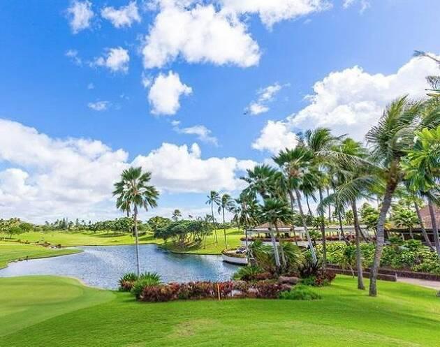 ハワイの自然を感じるゴルフコース