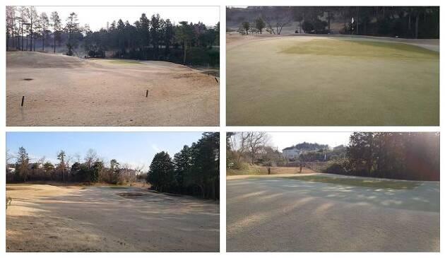 冬のラウンドで、早い時間にスタートする場合の注意点、ポイントその3〜グリーンに注意・その1