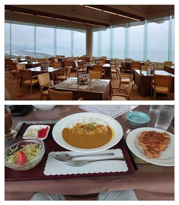 トーナメントの使用コース紹介の前に、レストランと昼食からご紹介!