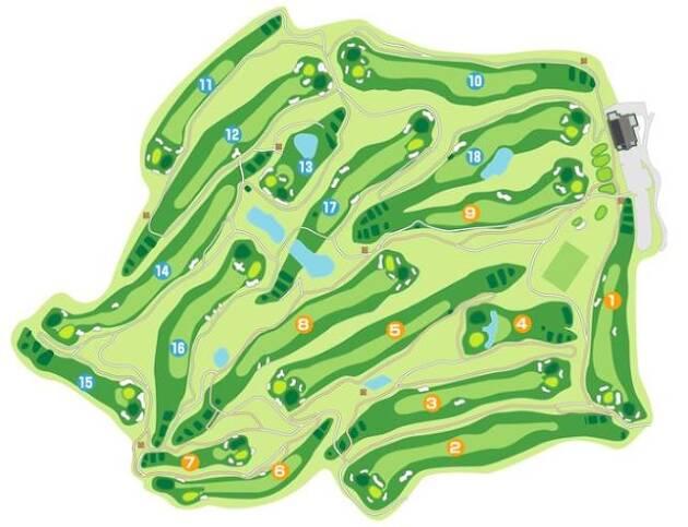 グリーンはベントグリーンの2グリーン制で、コースは距離もありとても難しい!