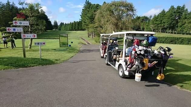 先週の週末にゴルフに行きましたが……
