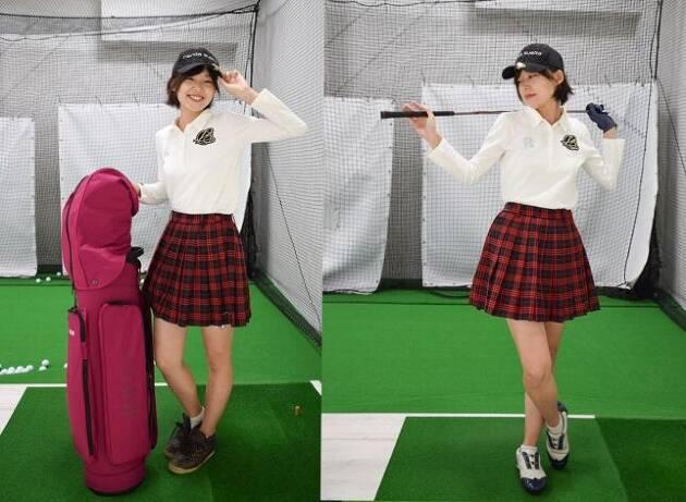 今日はゴルフウェアでレッスンですっ☆