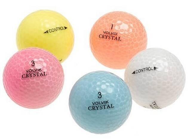 Bクラスのグリーンは3色の球で練習している人がいる