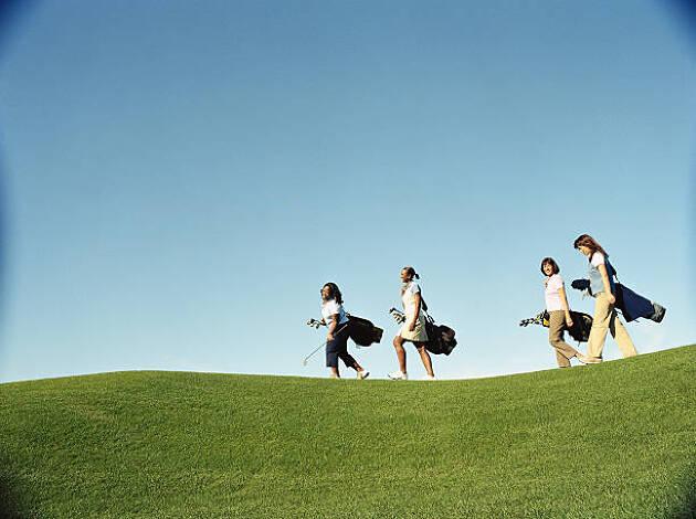 女子ゴルフ! 親しき仲にも礼儀あり