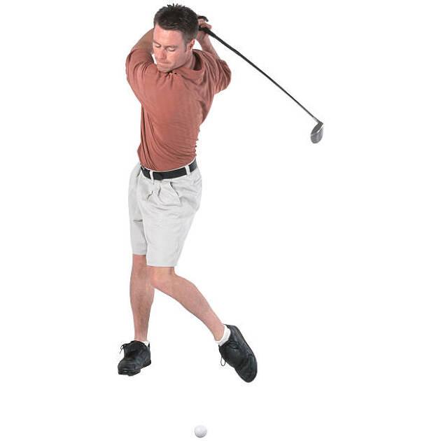 振り遅れの原因(3)体重移動が誤っている