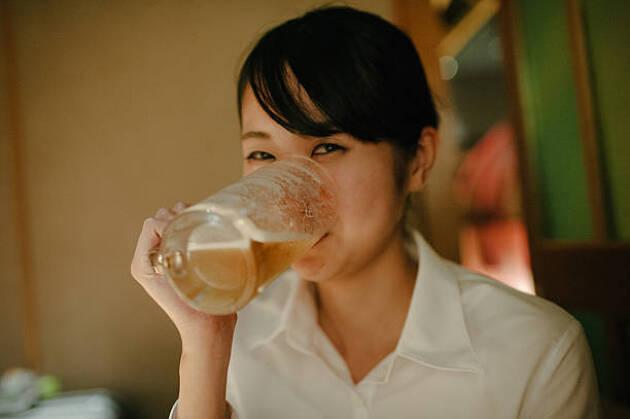 ゴルフ中のお酒は飲む派! 当たり前のルーティンです