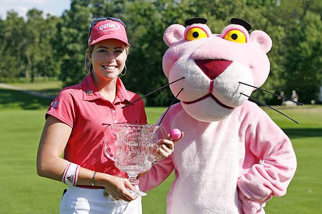アメリカ出身のポーラ・クリーマー選手はピンクパンサーが大好き!