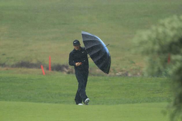 朝方までの雨は小止みになりつつあるが、今度は風が強くなってきた!!