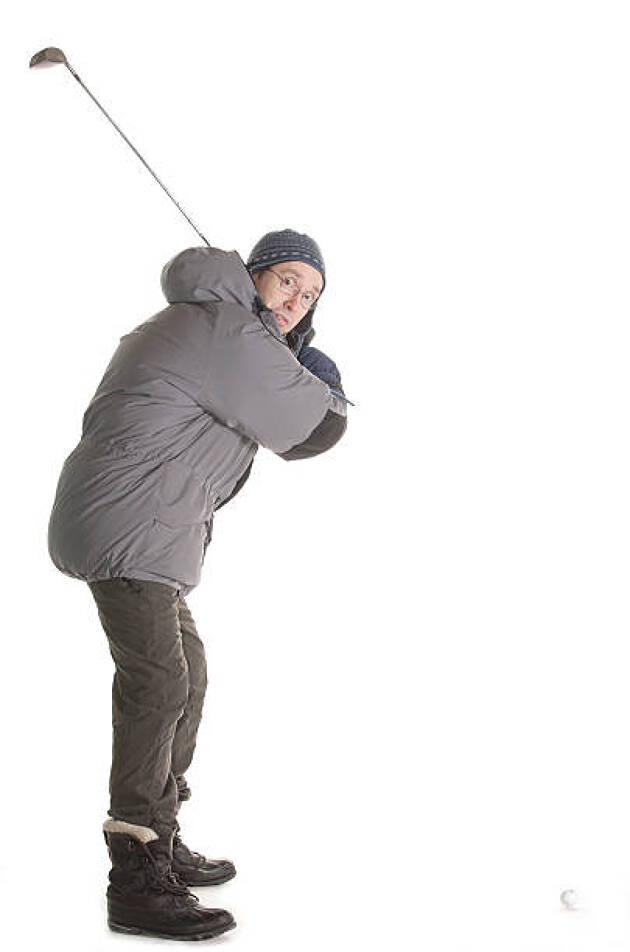 冬ゴルフ対策1.着ぶくれ