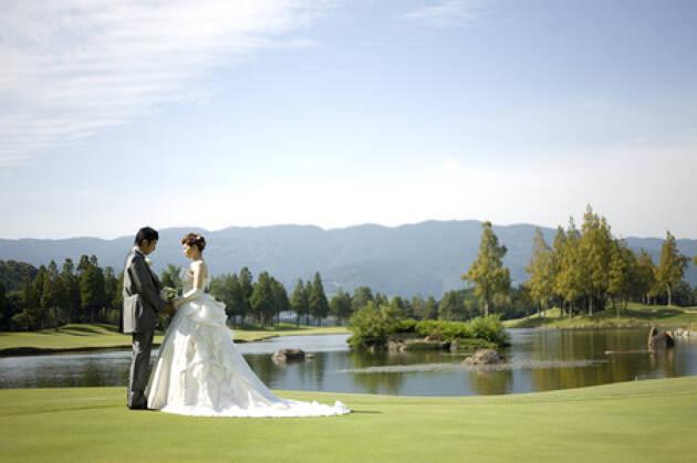 長崎リゾートアイランド パサージュ琴海のゴルフ場ウェディング